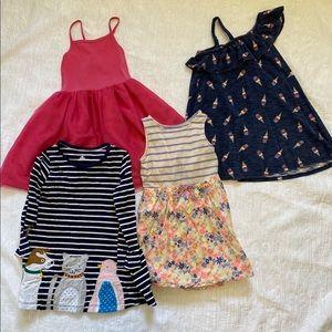 Lot of 4 5T Dresses